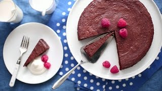 Gluten Free Chocolate Truffle Torte - Everyday Food with Sarah Carey
