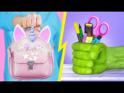 13 Fun and Useful School Supplies! DIY Back to School Hacks