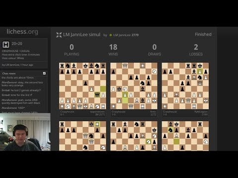Simul Crazyhouse with JannLee on lichess.org