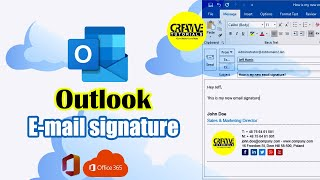 How to create signature in Outlook   Outlook email signatures   Creative Tutorials