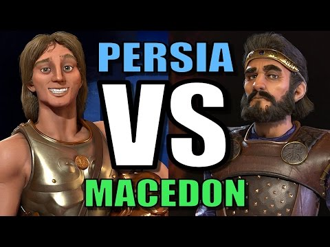PERSIA VS MACEDON | Civilization 6 AI Only Deity Gameplay [Cyrus VS Alexander in CIV 6]