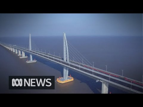 China's new mega bridge from Hong Kong to Macau