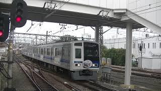 西武鉄道6156F 下り回送34M 準急飯能行追い抜き 所沢