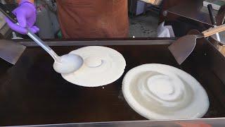 Handmade Pancake Omelet / 手工粉漿蛋餅 - Taiwanese Street Food