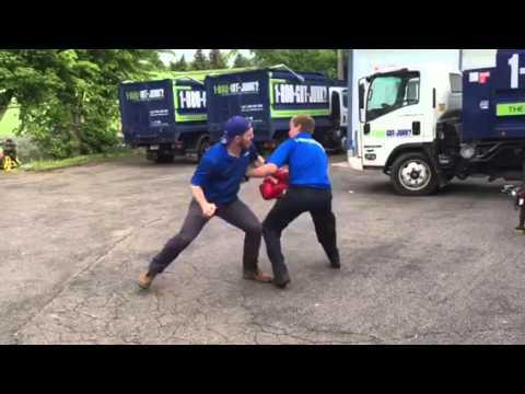 Back yard boxing match