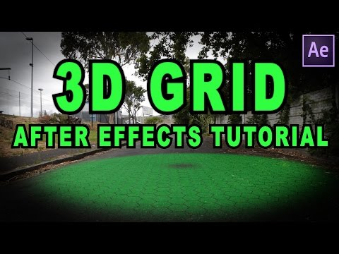 After effects tutorial 3d grid effect youtube for Habitacion 3d after effects
