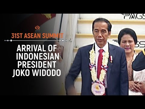 ASEAN 2017: Arrival of Indonesian President Joko Widodo