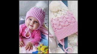 #шапкаспицами ЧАСТЬ 1 Вяжем вместе детскую шапку , с двойными ушками , с вязаным подкладом.