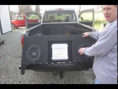 99 06 Gm Regular Cab Sub Box With Amp Space Youtube
