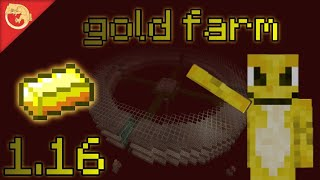 SUPER efficient XP and GOLD farm for minecraft 1.16 nether