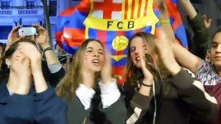 Как в Барселоне праздновали победу над ПСЖ