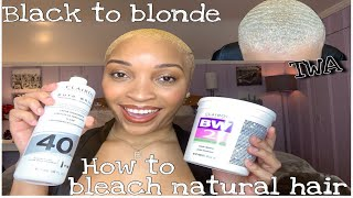 How to Bleach Natural Hair | BLACK TO BLONDE