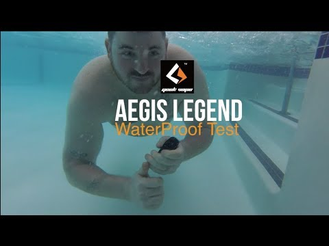 Aegis Legend Box Mod Kit by Geek Vape Review & Waterproof,Shock/DropProof Test