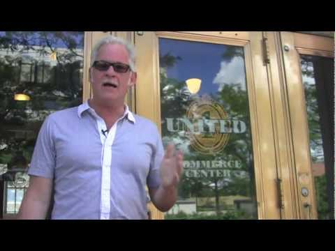 Tony Troppe at the United. Building Downtown Akron Ohio - real estate walkthrough