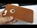 Genuine Leather Card Slot Holder Flip Book Wallet Cover Case for iPhone 7 Plus by Torubia giveaway
