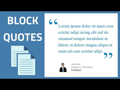 How Insert And Style Block Quotes With CSS