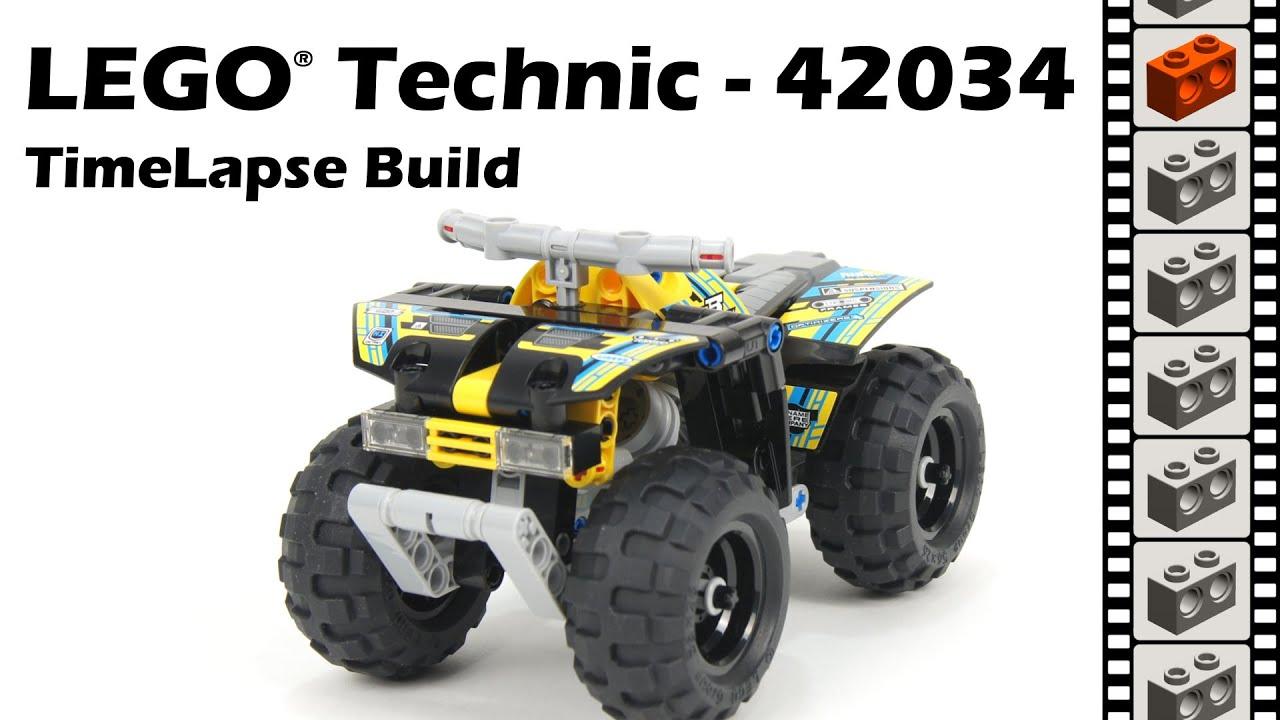 lego technic 42034 quad bike timelapse build youtube. Black Bedroom Furniture Sets. Home Design Ideas