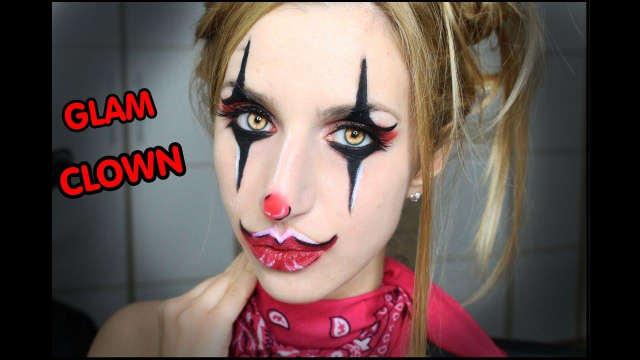 Trucco Halloween SEMPLICE CLOWN RAGAZZA!