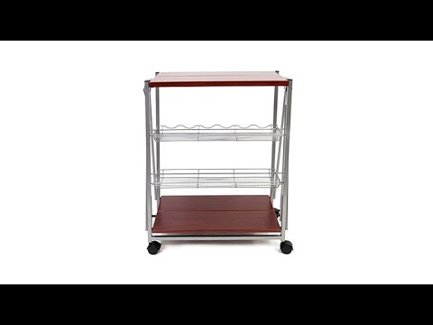 origami kitchen trolley cart youtube