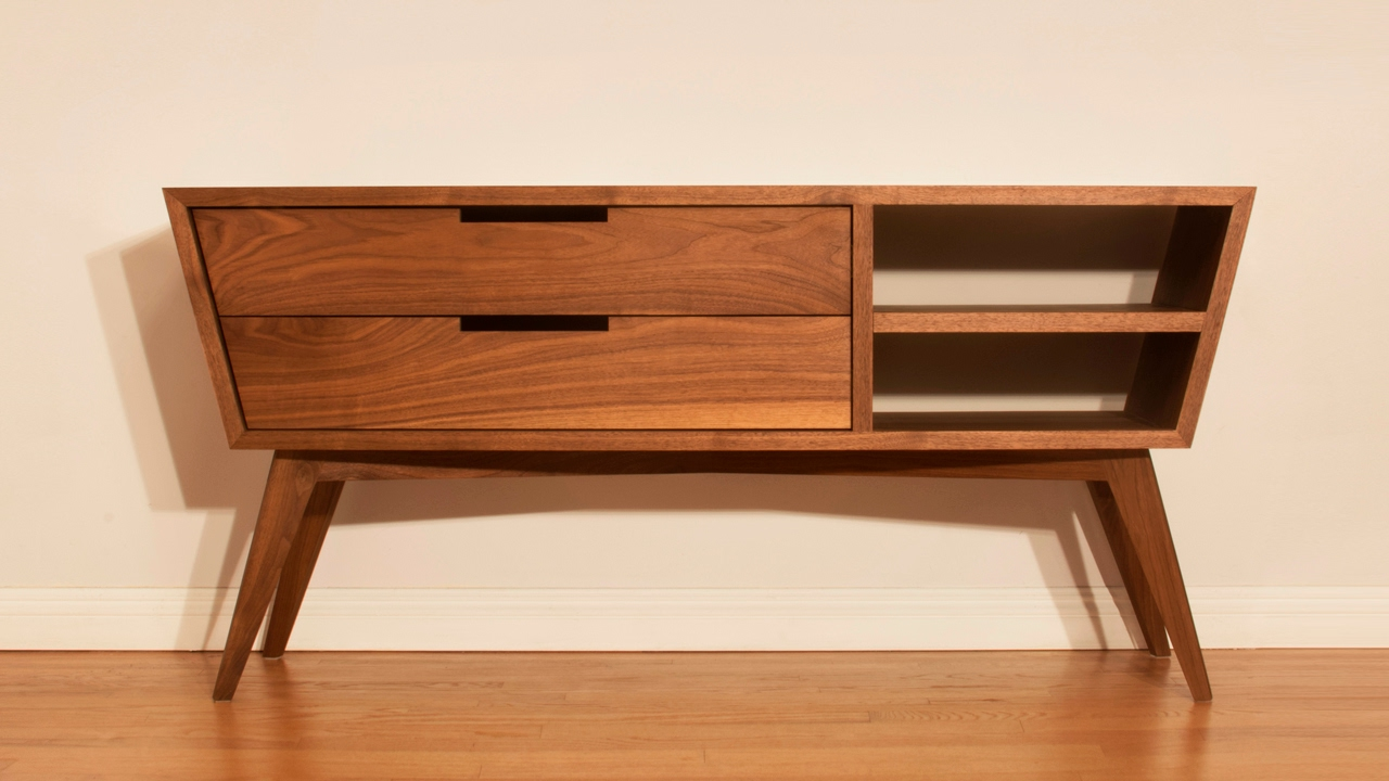 Credenza Contemporary : Designing and building a modern credenza woodworking youtube