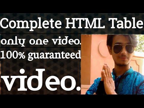 HTML Table Full Tutorial + Advance HTML