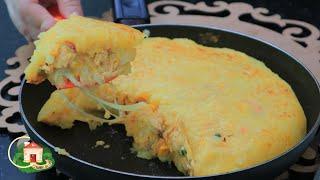 Lanche Fácil e Rápido de Frigideira Recheado com Frango – Serve como Almoço Ou Janta
