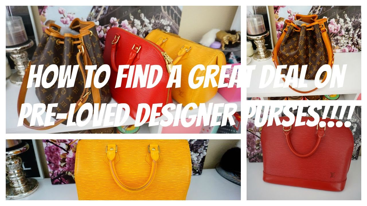 How to find GREAT DEALS on Pre-Loved Designer Handbags!!! - YouTube aa42f375848e