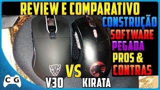 Review Mouse MotoSpeed V30 Prós e Contras Comparando Com Dazz Kirata