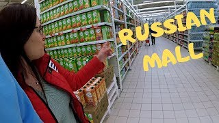 American in a Russian mall, supermarket and hardware store Real Russia