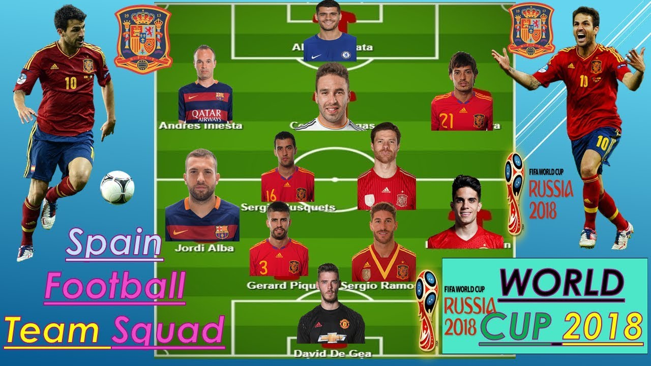 Download Spain Squad For FIFA World Cup 2018 Russia(((Official list 23 Man Final Slected