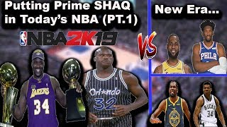 What if Shaq in his Prime, played in Todays NBA? Simulation on NBA2K19!