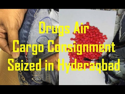Drugs Air Cargo Consignment Seized in Hyderabad