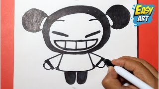 how to draw pucca - como dibujar a pucca