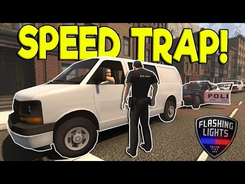 POLICE SPEED TRAP & TRAFFIC STOPS! - Flashing Lights Early Access Gameplay - Police Simulator
