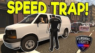 police speed trap traffic stops flashing lights early access gameplay police simulator