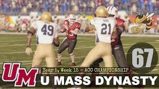 U Mass Minutemen Dynasty - EP67 (Year 5, Week 15 ACC Championship Game vs Georgia Tech)