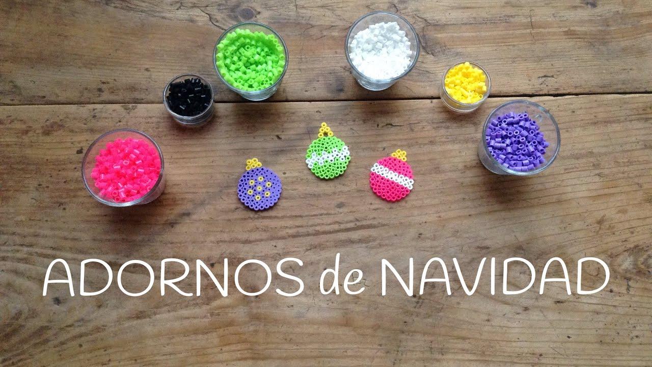 Como hacer adornos navide os para el rbol con hama beads - Adornos navidenos caseros para ninos ...