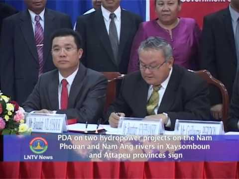 Lao NEWS on LNTV: PDA on 2 hydropower projects in Xaysomboun & Attapeu.28/5/2014