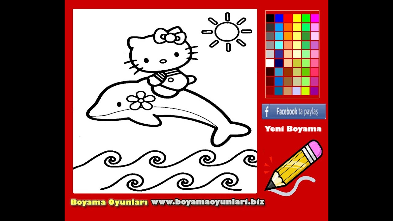 Hello Kitty Coloring Pages For Kids  Hello Kitty Coloring Pages