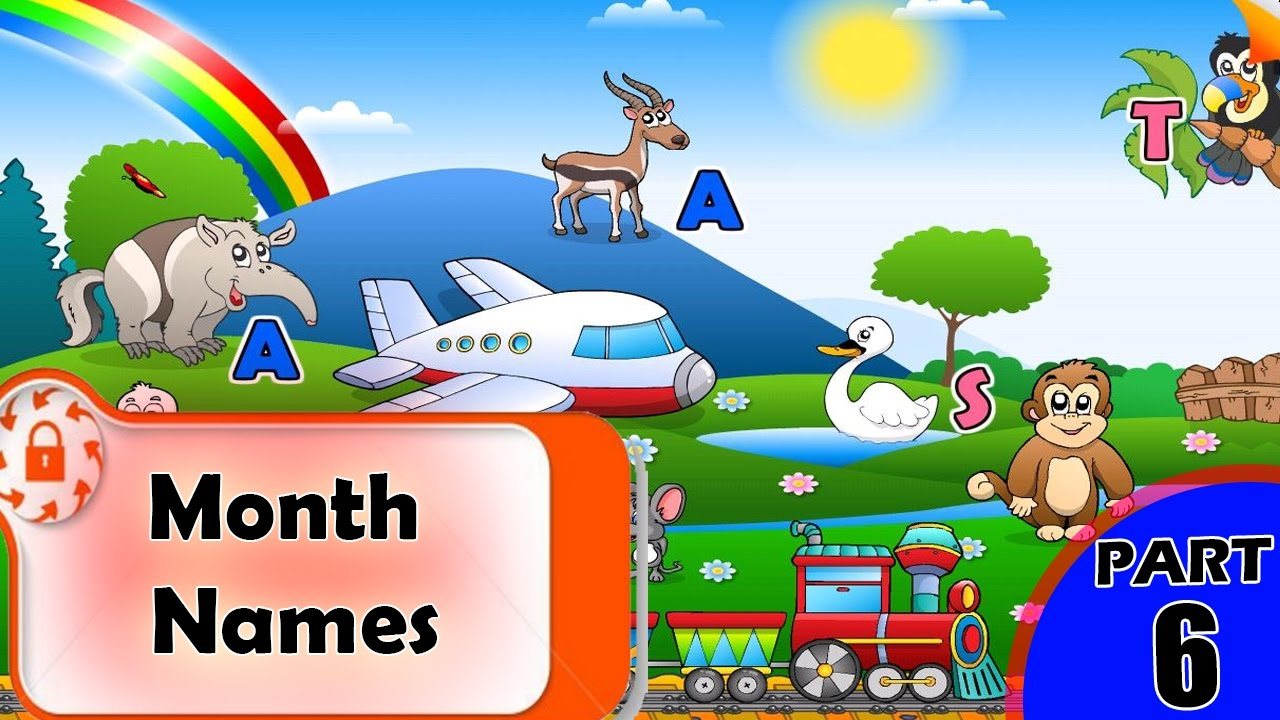Month Names | Months | Names of the Months | Month Name in English | Months  of the Year List