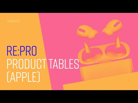 Product Tables (Apple) | re:PRO