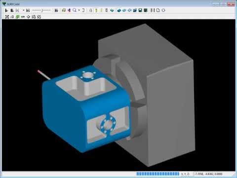 SURFCAM Tutorial - 4-Axis: Indexing