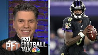 Lamar Jackson looks unstoppable vs. New York Jets | Pro Football Talk | NBC Sports Video