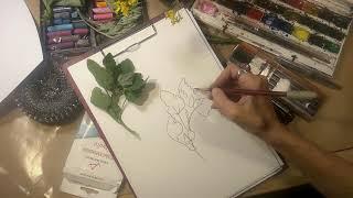 Как нарисовать растение мини-урок-мастер-класс.