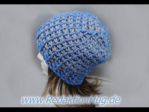 Tunesisch Häkeln - Mütze mit 15er Nadel aus hatnut cool von Pro Lana ...