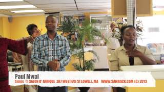 paul mwai sings at salon d afrique lowell ma