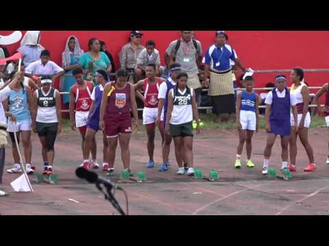 100m Finals Girls - Tonga Inter-Collegiate Athletics