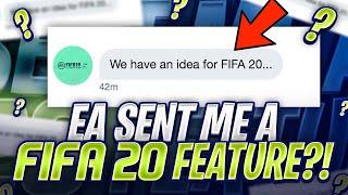 EA SENT ME A FIFA 20 FEATURE?