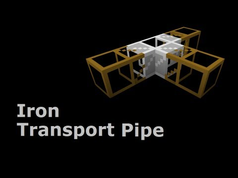 Iron Transport Pipe (Tekkit/Feed The Beast) - Minecraft In Minutes