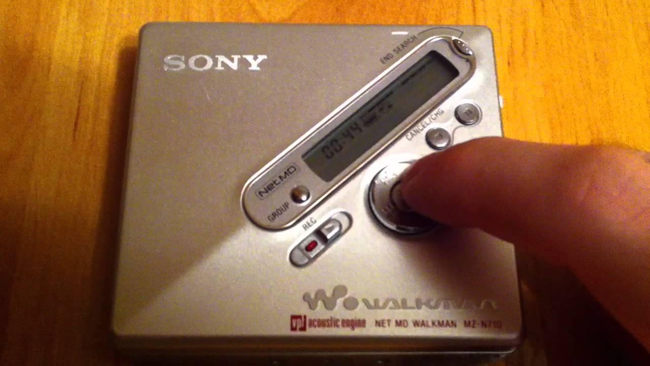 Sony MZ-N710//s MP3-MiniDisc-Rekorder Silber